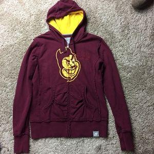 Nike ASU Sun Devils Full Zip-Up Hoodie S